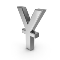 Chinese Yuan Currency Symbol Silver PNG & PSD Images