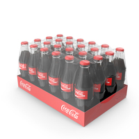 Coca Cola Glass Bottle 24 Case PNG & PSD Images