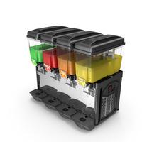 Cofrimell Cold Drink Dispenser 4 Jars PNG & PSD Images