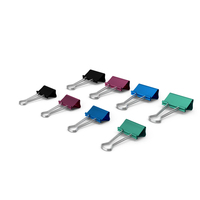 Colored Binder Clips PNG & PSD Images