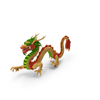 Colorful Traditional Chinese Dragon PNG & PSD Images