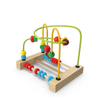 Colorful Wooden Educational Wire Maze Toy PNG & PSD Images
