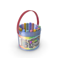 Coloured Chalk Bucket PNG & PSD Images
