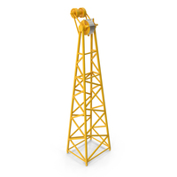 Crane F Intermediate Head Section Yellow PNG & PSD Images