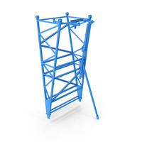 Crane F Intermediate Pivot Section Blue PNG & PSD Images
