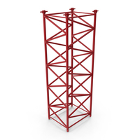 Crane F Intermediate Section 6m Red PNG & PSD Images
