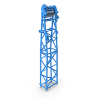 Crane WA Frame 1 Head Section Blue PNG & PSD Images