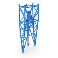 Crane WA Frame 1 Pivot Section Blue PNG & PSD Images