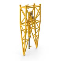 Crane WA Frame 1 Pivot Section Yellow PNG & PSD Images