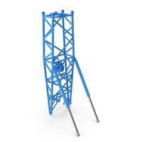 Crane WA Frame 2 Pivot Section Blue PNG & PSD Images