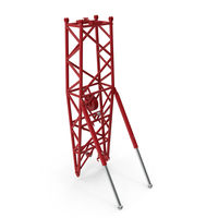 Crane WA Frame 2 Pivot Section Red PNG & PSD Images