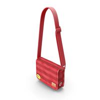 Student Messenger Bag (Red) PNG & PSD Images