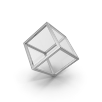 Glass Cube Silver PNG & PSD Images