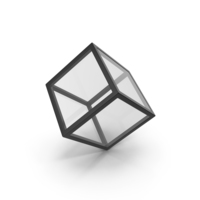 Glass Cube Black PNG & PSD Images