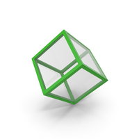 Glass Cube Green PNG & PSD Images