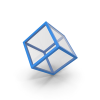 Glass Cube Blue PNG & PSD Images