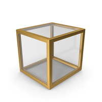 Gold Glass Cube PNG & PSD Images