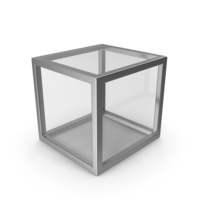Silver Glass Cube PNG & PSD Images