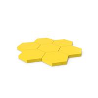 Hexagon Mosaic Yellow PNG & PSD Images