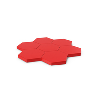 Hexagon Mosaic Red PNG & PSD Images
