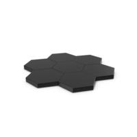 Hexagon Mosaic Black PNG & PSD Images