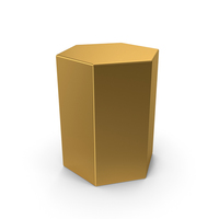 Gold Hexagon PNG & PSD Images