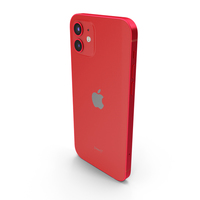 Apple iPhone 12 RED PNG & PSD Images