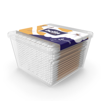 Cotton Wooden Swabs in Square Box PNG & PSD Images