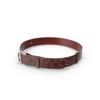 Crocodile Leather Belt Red PNG & PSD Images