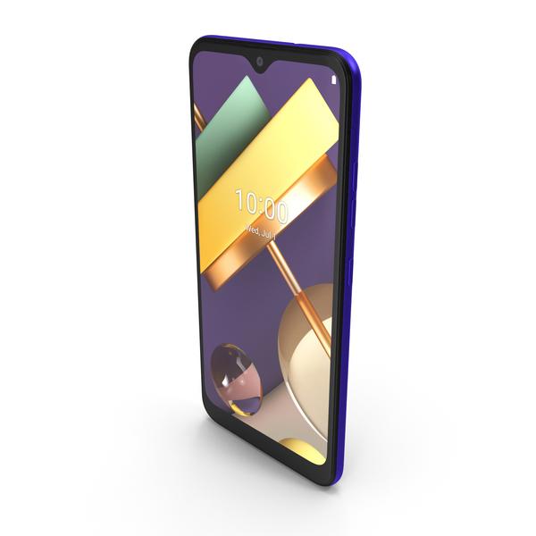 LG K22 Blue PNG & PSD Images