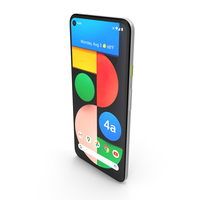 Google Pixel 4a 5G Clearly White PNG & PSD Images