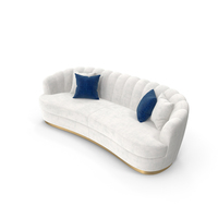 Brabbu Pearl White  curved Sofa PNG & PSD Images