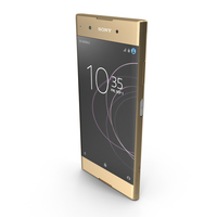 Sony Xperia XA1 Plus Gold PNG & PSD Images