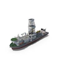 Drilling Vessel Ship (Drillship) PNG & PSD Images