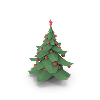 Christmas Tree Low Poly PNG & PSD Images