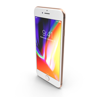 Apple iPhone 8 Gold PNG & PSD Images