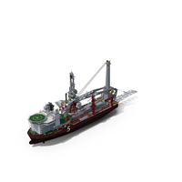 Heavy Lift Pipe-lay Multi Purpose Vessel PNG & PSD Images