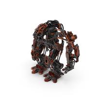 Pneumatic Robot Realistic 3D Model PNG & PSD Images