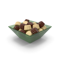 Glass Bowl With Chocolates PNG & PSD Images