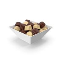 Bowl With Chocolate Bars Milky PNG & PSD Images