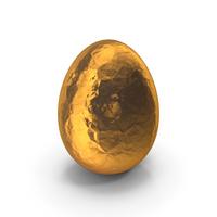 Egg Easter in Golden Foil PNG & PSD Images