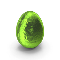 Easter Egg Green Foil PNG & PSD Images