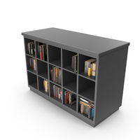 Modern Bookcase With Books PNG & PSD Images