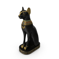Egyptian Cat Statue Black PNG & PSD Images