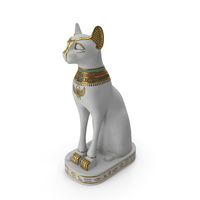 Egyptian Cat Statue White PNG & PSD Images