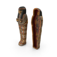 Egyptian Sarcophagus Gold PNG & PSD Images