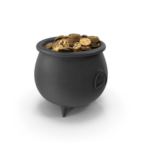 ST Patrick Pot with Gold Coins PNG & PSD Images