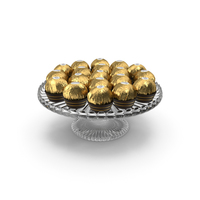 Ferrero Rocher Chocolates on Glass Base PNG & PSD Images