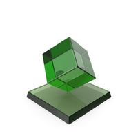 Cube Trophy Glass PNG & PSD Images