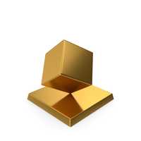 Cube Trophy Gold PNG & PSD Images